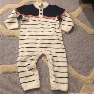 Janie and jack 6-12 months nautical sweater onesie